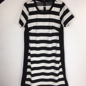 Eloquii Women's Black White Striped Dress Size 16